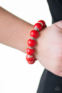 Paparazzi - Candy Shop Sweetheart - Red Bracelet - Classy Jewels by Linda
