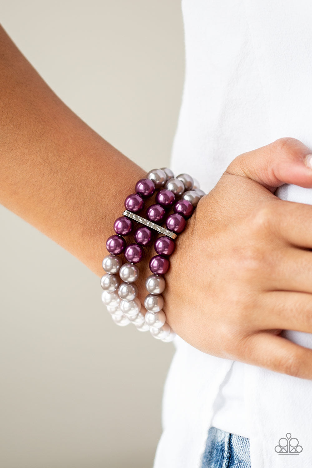 Paparazzi - Central Park Celebrity - Purple Bracelet - Classy Jewels by Linda