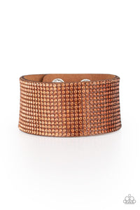 Paparazzi -   Fade Out - Brown Bracelet - Classy Jewels by Linda