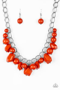 Paparazzi - Gorgeously Globetrotter - Orange Necklace Set - Classy Jewels by Linda