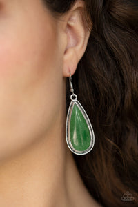 Paparazzi - Oasis Sheen - Green Earrings - Classy Jewels by Linda