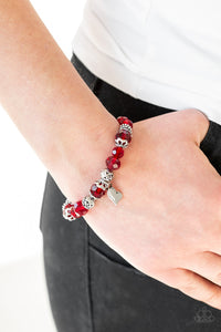 Right On The Romance - Red Bracelet - Classy Jewels by Linda