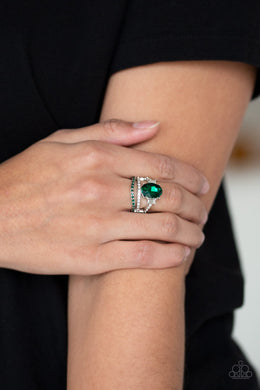 Paparazzi -  Spectacular Sparkle - Green Ring - Classy Jewels by Linda