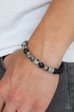 Paparazzi - Take It Easy - Black Bracelet - Classy Jewels by Linda