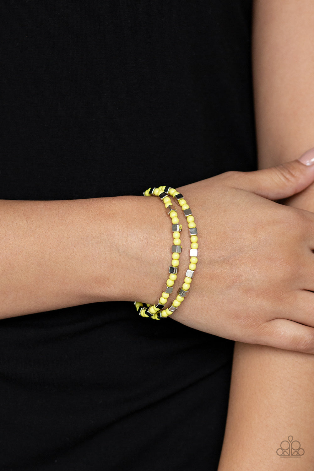 Paparazzi - Trendy Tribalist - Yellow - Classy Jewels by Linda