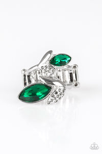 Paparazzi - Flawless Foliage - Green Ring - Classy Jewels by Linda