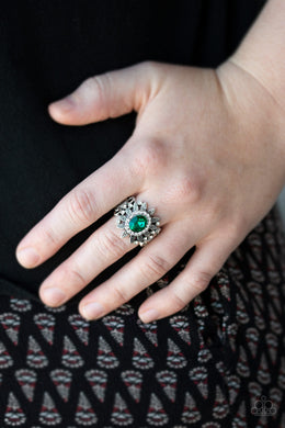 Paparazzi - Burn Bright - Green Ring - Classy Jewels by Linda