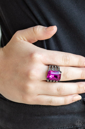 Paparazzi - Expect Heavy REIGN - Pink Ring - Classy Jewels by Linda