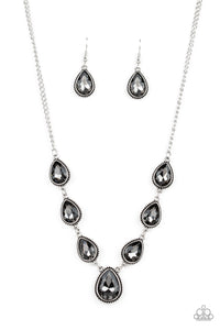 Paparazzi - Socialite Social - Silver Necklace Set - Classy Jewels by Linda