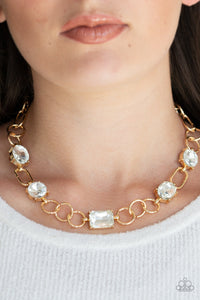 Paparazzi - Urban District - Gold Necklace Set - Classy Jewels by Linda