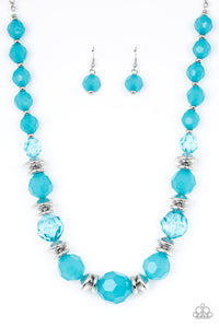 Paparazzi - Dine and Dash - Blue Necklace Set - Classy Jewels by Linda