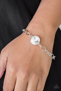 Paparazzi - All Aglitter - White Bracelet - Classy Jewels by Linda