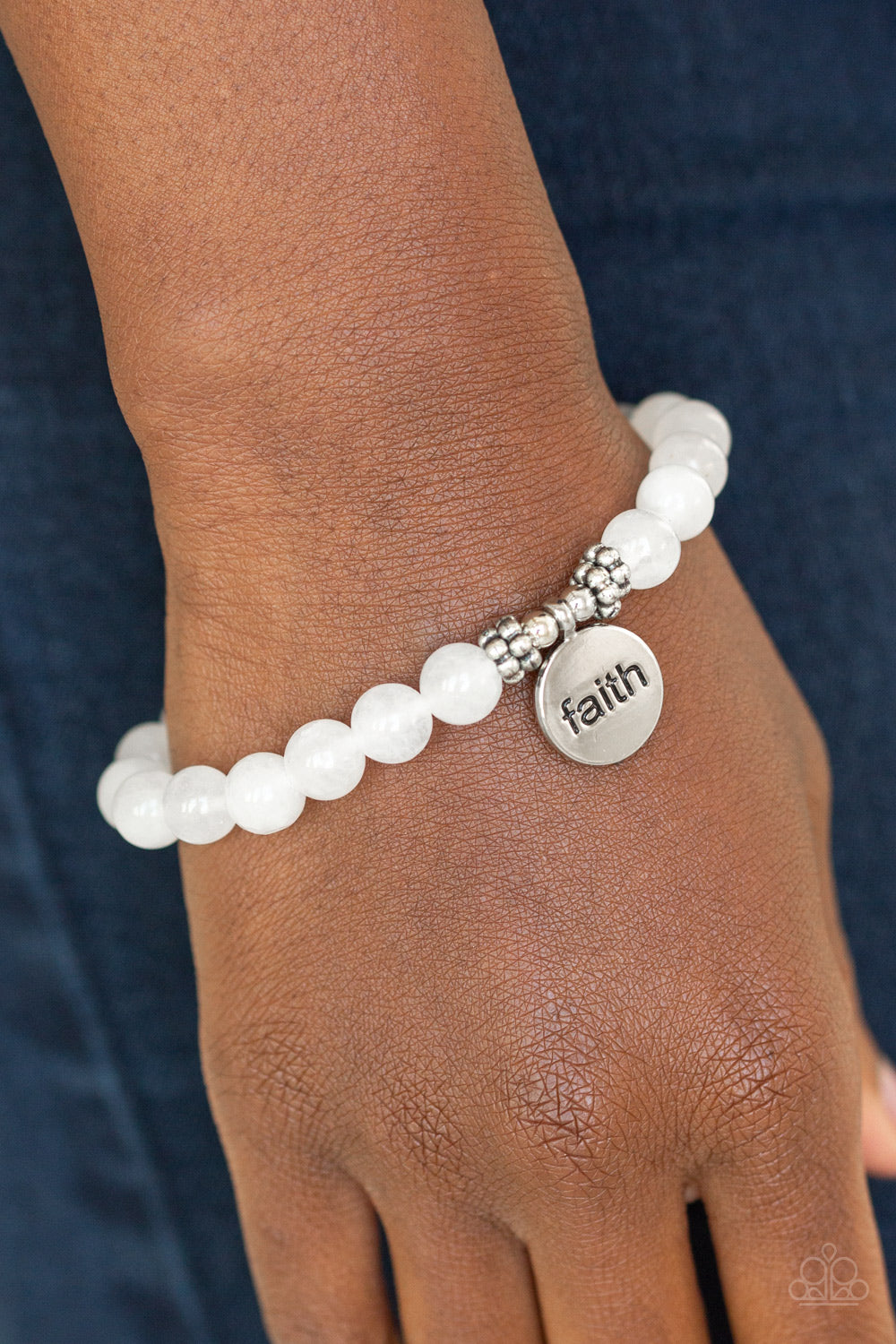Paparazzi - FAITH It, Till You Make It - White Bracelet - Classy Jewels by Linda