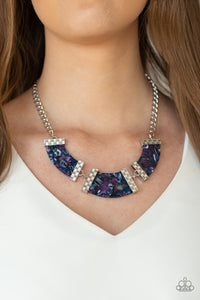 Paparazzi - HAUTE-Blooded - Purple Acrylics Necklace Set - Classy Jewels by Linda