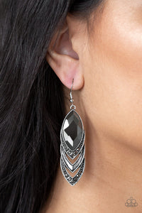 Paparazzi - High-End Highness - Silver Earrings - Classy Jewels by Linda