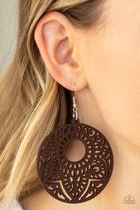 Paparazzi - Mandala Mambo - Brown Earrings - Classy Jewels by Linda
