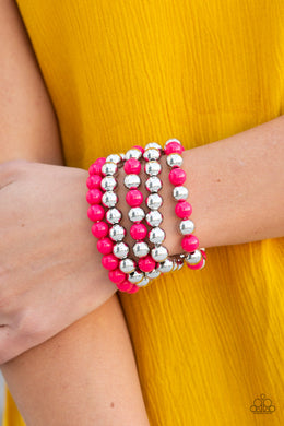 Paparazzi - Pop-YOU-lar Culture - Pink Bracelet - Classy Jewels by Linda