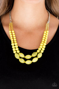 Paparazzi - Sundae Shoppe - Yellow Necklace Set - Classy Jewels by Linda