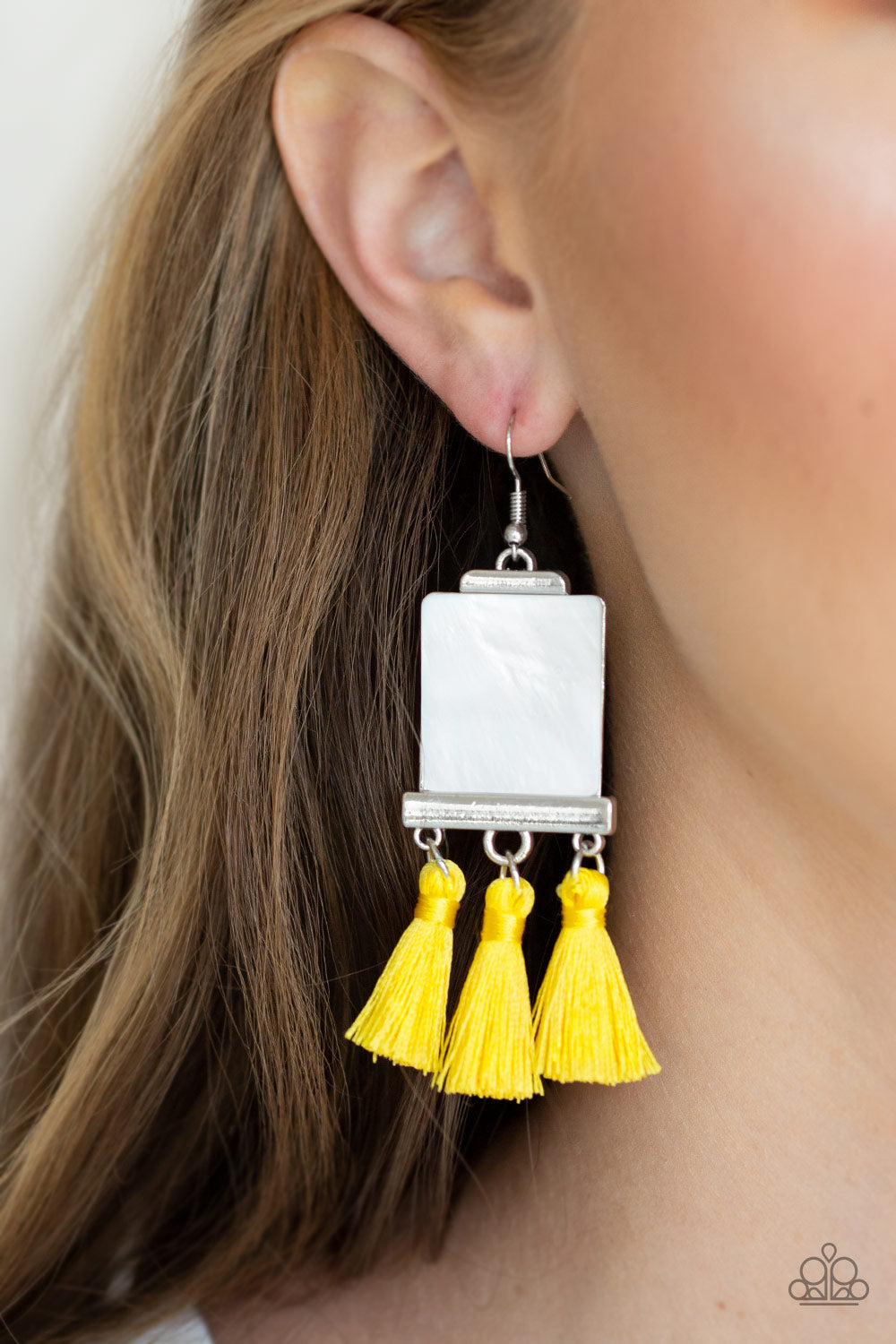 Paparazzi -   Tassel Retreat - Yellow Earrings - Classy Jewels by Linda