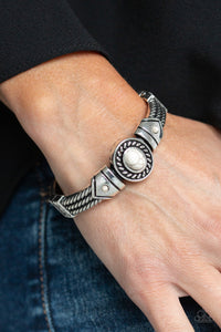 Paparazzi - Tribal Soul - White Bracelet - Classy Jewels by Linda