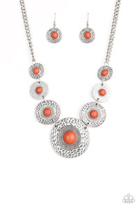 Paparazzi - Tiger Trap - Orange Necklace Set - Classy Jewels by Linda
