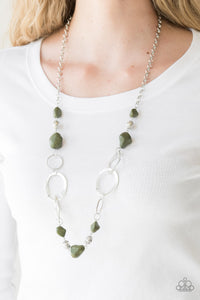 Paparazzi - Thats TERRA-ific! - Green Necklace Set - Classy Jewels by Linda