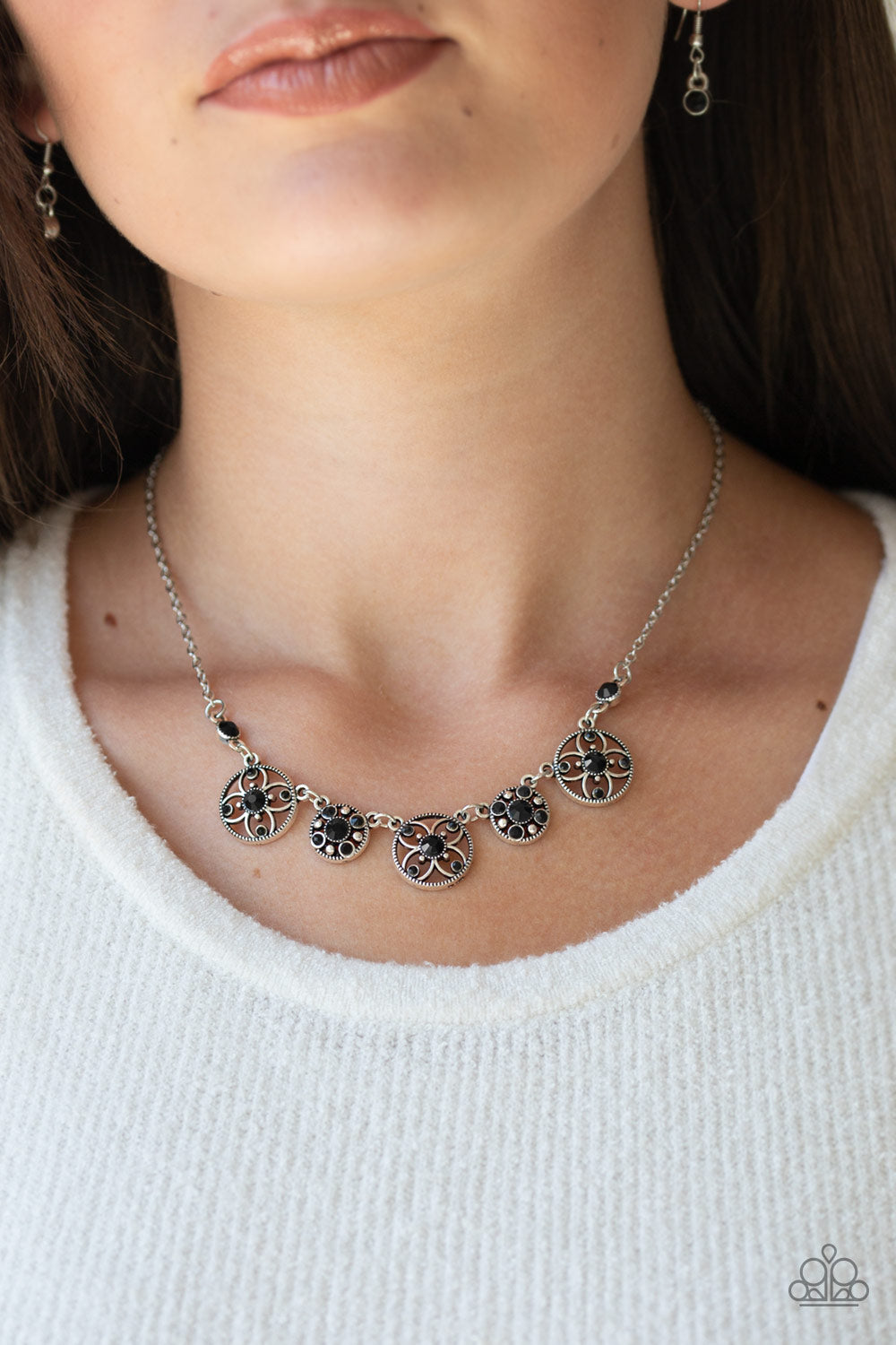 Paparazzi - Floral Florescence - Black Necklace Set - Classy Jewels by Linda