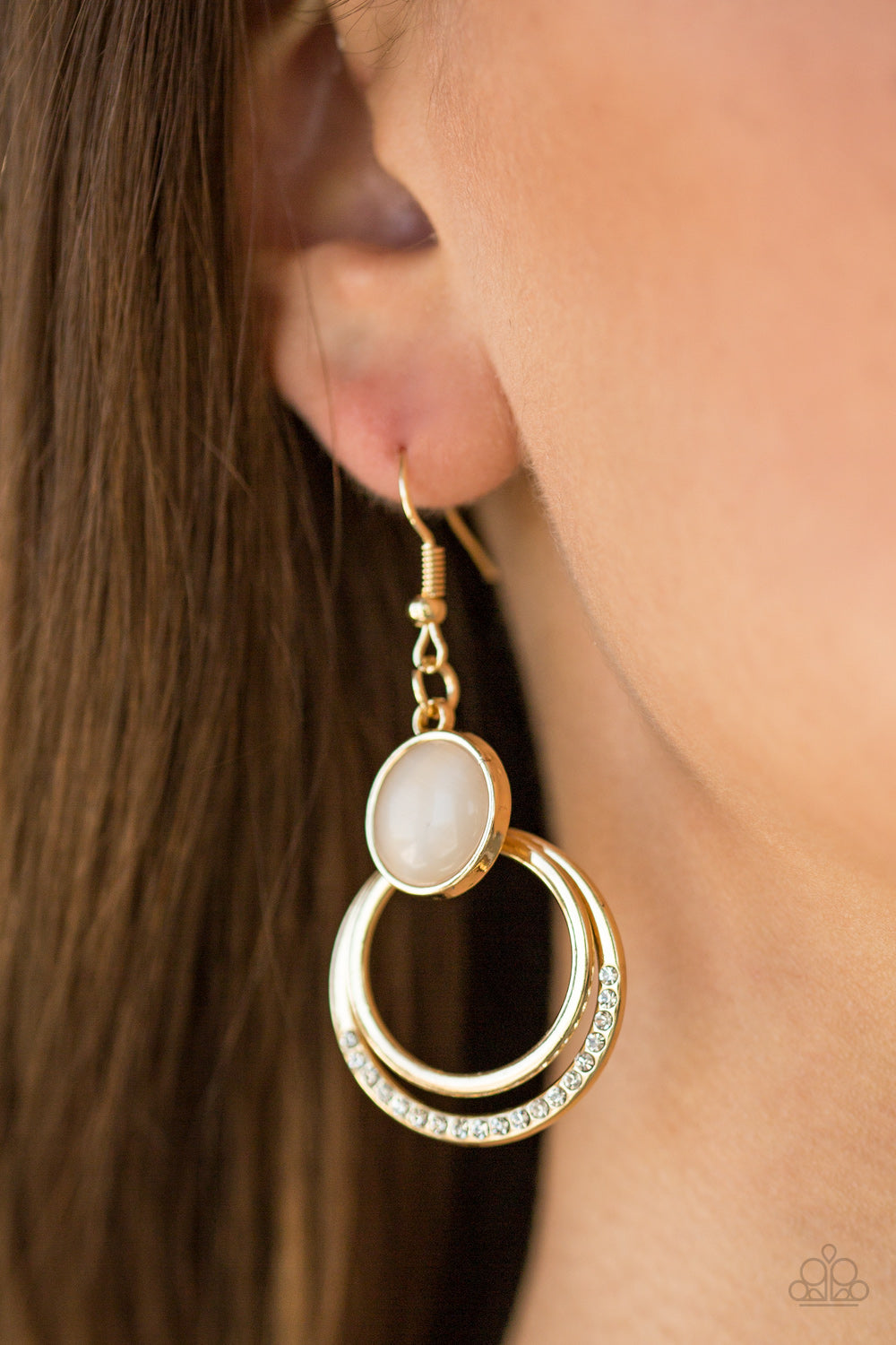 Paparazzi - Dreamily Dreamland - Gold Earrings - Classy Jewels by Linda