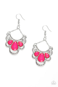 Paparazzi -   Caribbean Royalty - Pink Earrings - Classy Jewels by Linda