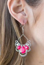 Load image into Gallery viewer, Paparazzi -   Caribbean Royalty - Pink Earrings - Classy Jewels by Linda