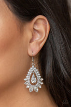 Load image into Gallery viewer, Paparazzi - Boss Brilliance - White Earrings - Classy Jewels by Linda