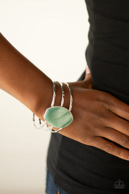Paparazzi - Canyon Dream - Green Acrylics Bracelet - Classy Jewels by Linda