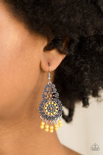 Load image into Gallery viewer, Paparazzi - Courageously Congo - Yellow Earrings - Classy Jewels by Linda