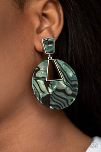 Paparazzi -   Let HEIR Rip! - Green Acrylics Earrings - Classy Jewels by Linda