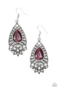 Paparazzi - Majestically Malibu - Purple Earrings - Classy Jewels by Linda