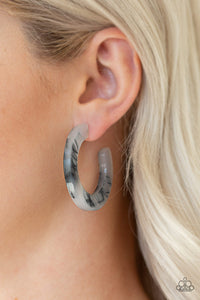Paparazzi - Oceanside Oasis - Black Earrings - Classy Jewels by Linda