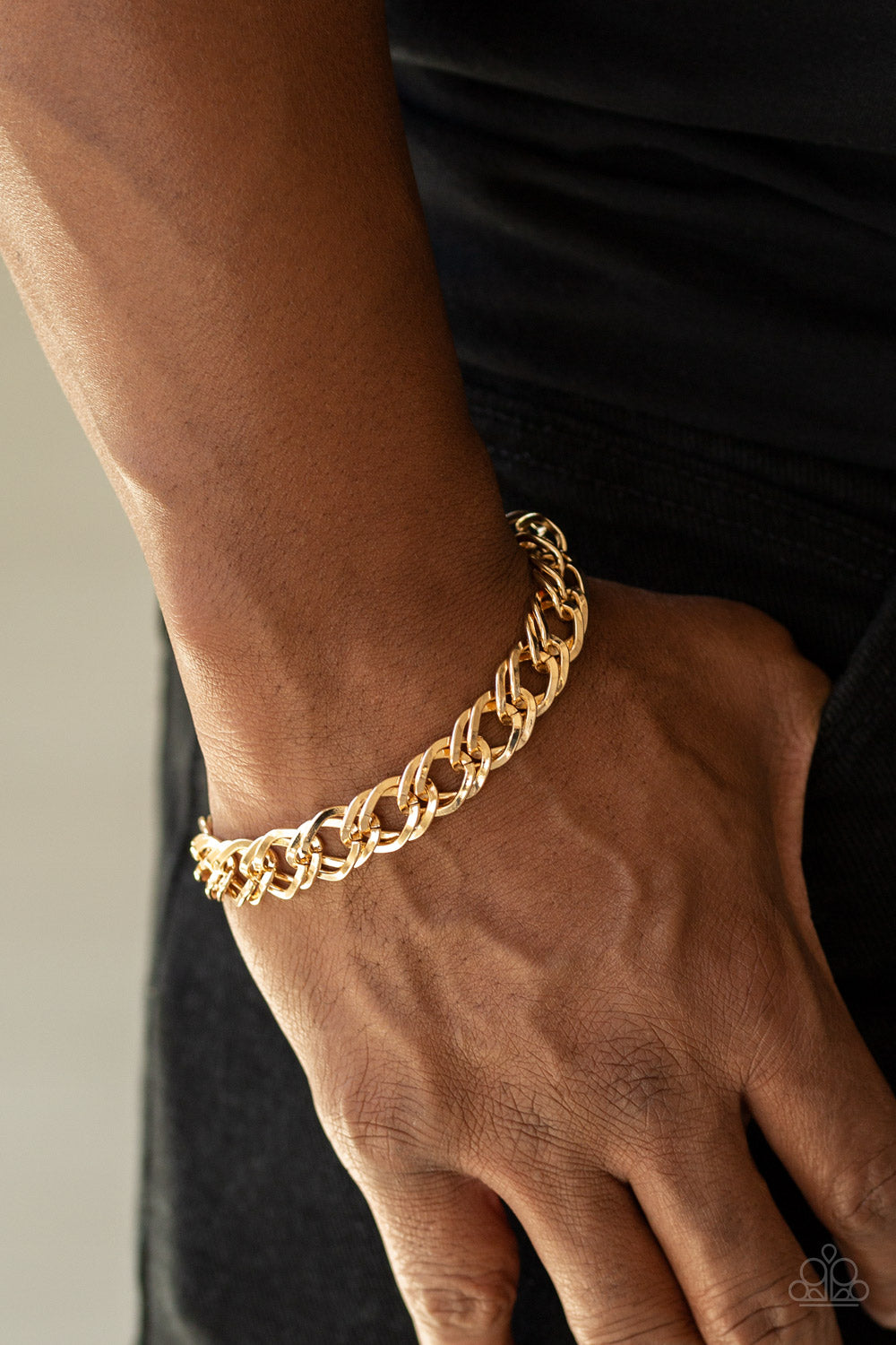 Paparazzi - On The Ropes - Gold Bracelet - Classy Jewels by Linda