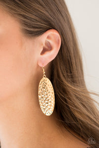 Paparazzi - Radiantly Radiant - Gold Earrings - Classy Jewels by Linda