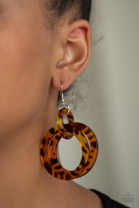 Paparazzi - Retro Riviera - Brown Acrylics Earrings - Classy Jewels by Linda