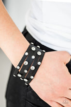 Load image into Gallery viewer, Paparazzi - Rhinestone Reputation - Black Bracelet - Classy Jewels by Linda