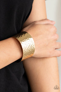 Paparazzi - Simmering Shimmer - Gold Bracelet - Classy Jewels by Linda