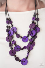 Load image into Gallery viewer, Paparazzi - South Beach Summer - Purple Wood Necklace Set - Classy Jewels by Linda