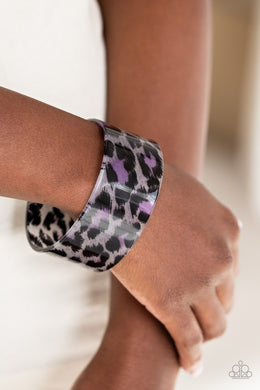 Paparazzi - Top Cat - Purple Bracelet - Classy Jewels by Linda