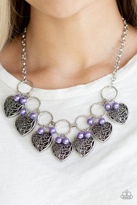 Paparazzi - Very Valentine - Purple Necklace Set - Classy Jewels by Linda