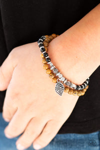 Paparazzi - Wonderfully Woodland - Black Wood Bracelet - Classy Jewels by Linda
