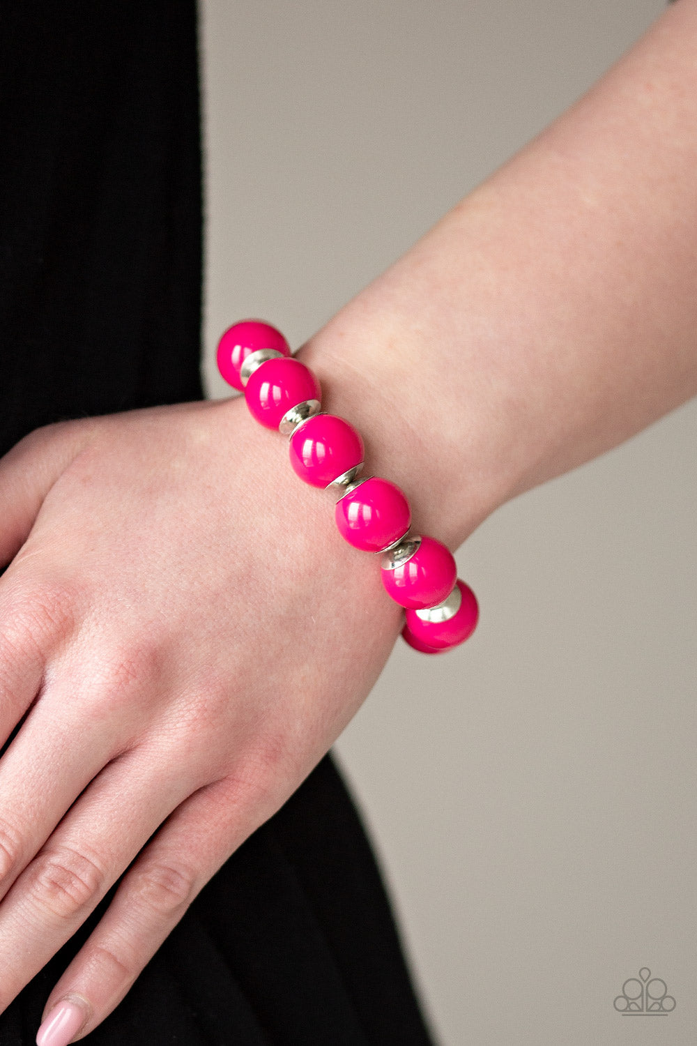 Paparazzi -Candy Shop Sweetheart - Pink Bracelet - Classy Jewels by Linda