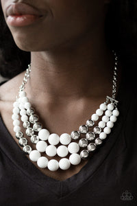 Paparazzi -Dream Pop - White Necklace Set - Classy Jewels by Linda