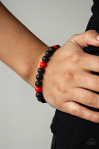 Paparazzi -  All Zen - Red Bracelet - Classy Jewels by Linda