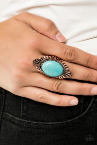 Paparazzi -   Pioneer Party - Copper Ring - Classy Jewels by Linda