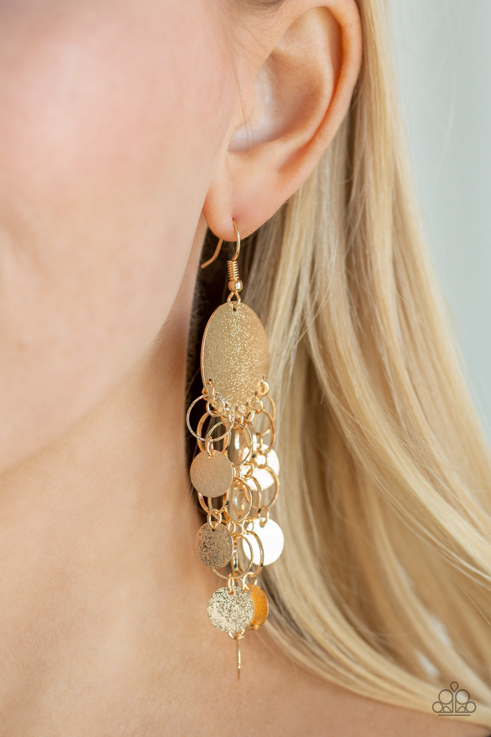 Paparazzi - Turn On The BRIGHTS - Gold Earrings - Classy Jewels by Linda